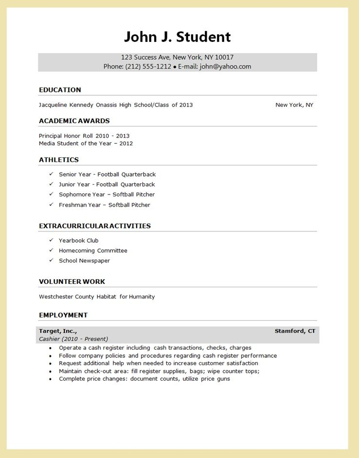 high school senior resume for college application google search template bootstrap intro Resume High School Resume For College Application