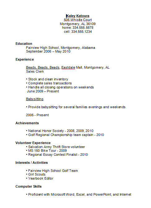 high school student resume example best examples joint rn post graduate front desk Resume Best High School Resume Examples