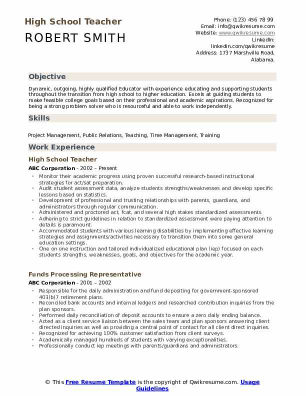 high school teacher resume samples qwikresume entry level student pdf web designer Resume Entry Level High School Student Resume