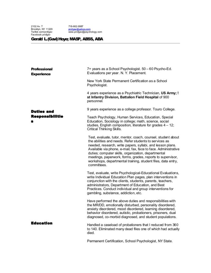 hoye4 resume for behavioral health technician hoye4resume phpapp01 thumbnail maintenance Resume Resume For Behavioral Health Technician