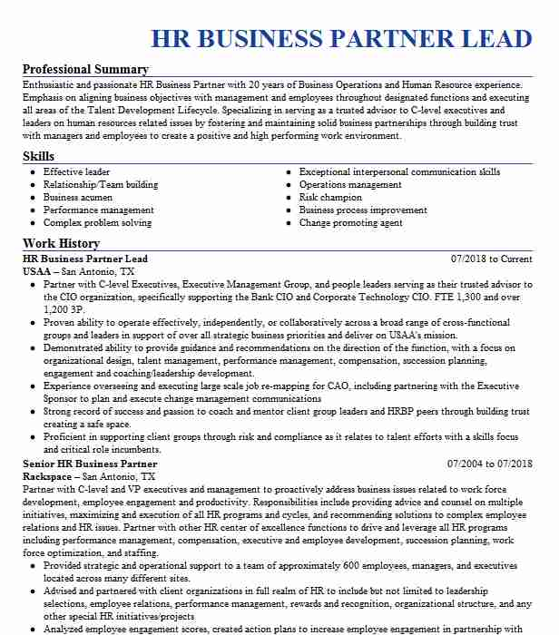 hr business partner resume example cognizant technology solutions fair lawn new human Resume Human Resources Business Partner Resume