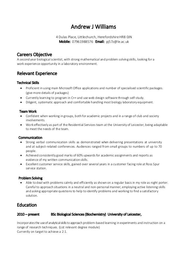 https image slidesharecdn example 20skill 20based 20cv phpapp02 skill based cv resume Resume Student Skills For Resume