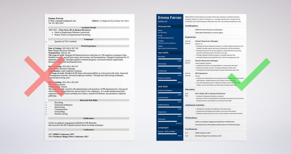 human resources hr resume examples guide tips employee relations samples categorical Resume Employee Relations Resume