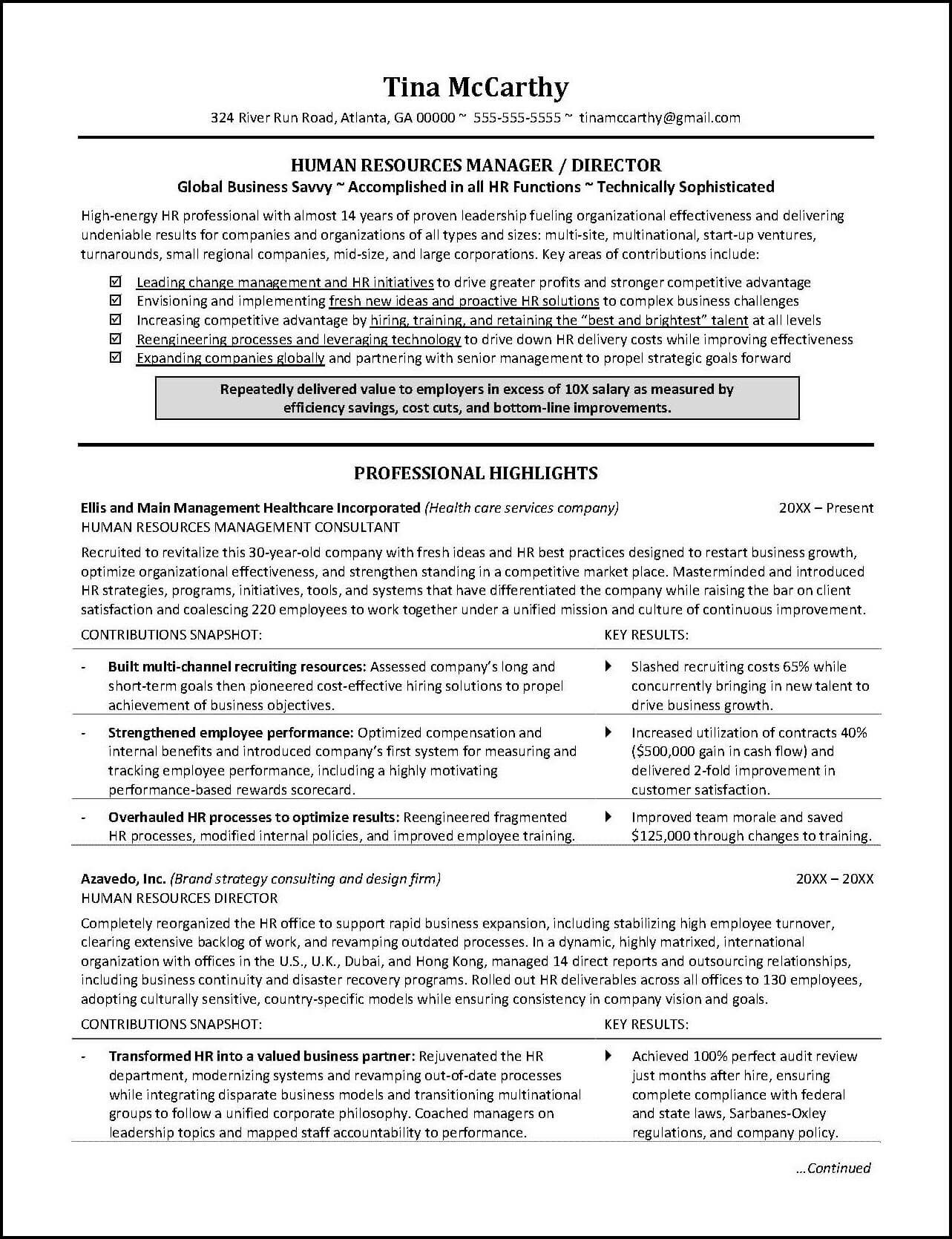 human resources resume example distinctive career services employee relations manager Resume Employee Relations Manager Resume Example