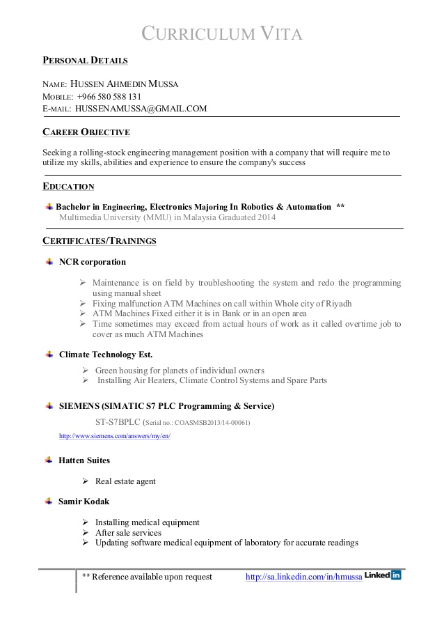 hussen cv resume available upon request for modeling and acting professional objective Resume Resume Available Upon Request