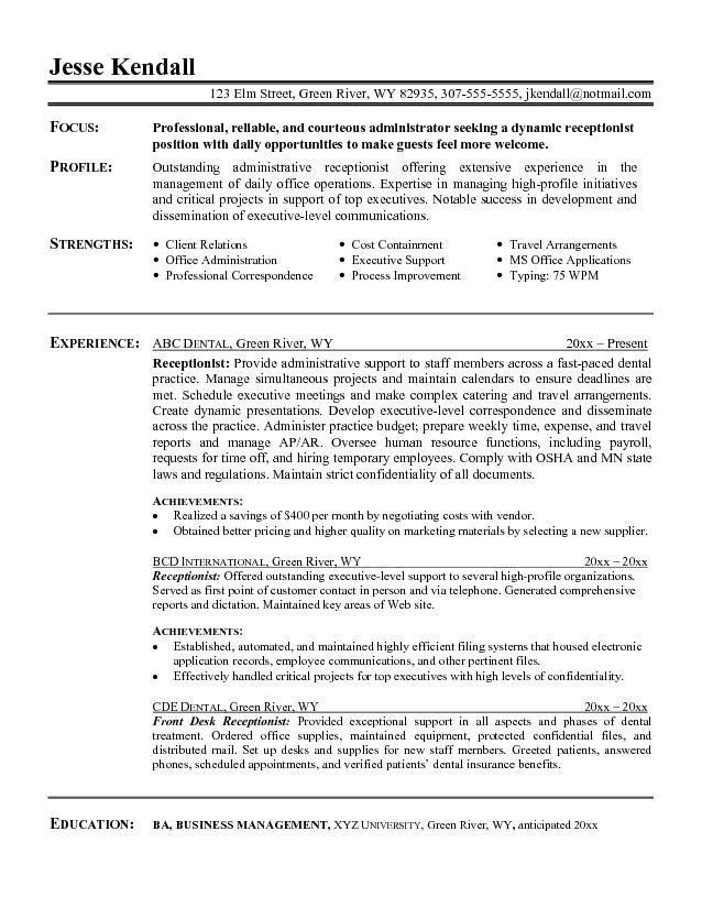 image for resume objective summary examples administrative assistant statement students Resume Resume Summary Statement For Students