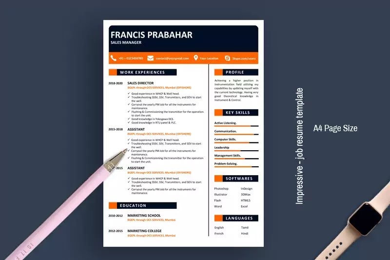 impressive job resume template for word free my ideal the best community relations Resume Resume Template 2020 Free Download