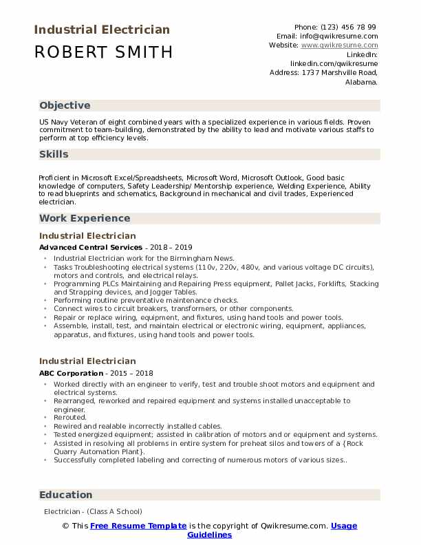 industrial electrician resume samples qwikresume construction pdf nanny examples free Resume Construction Electrician Resume