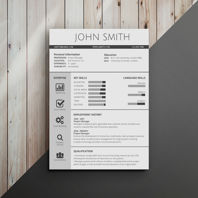 infographic resume template venngage skills classic professional an example of objective Resume Skills Usa Resume Template