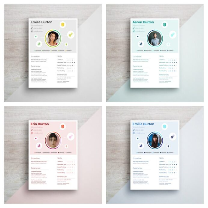 infographic resume template venngage with pie chart creative character electrician Resume Resume Template With Pie Chart