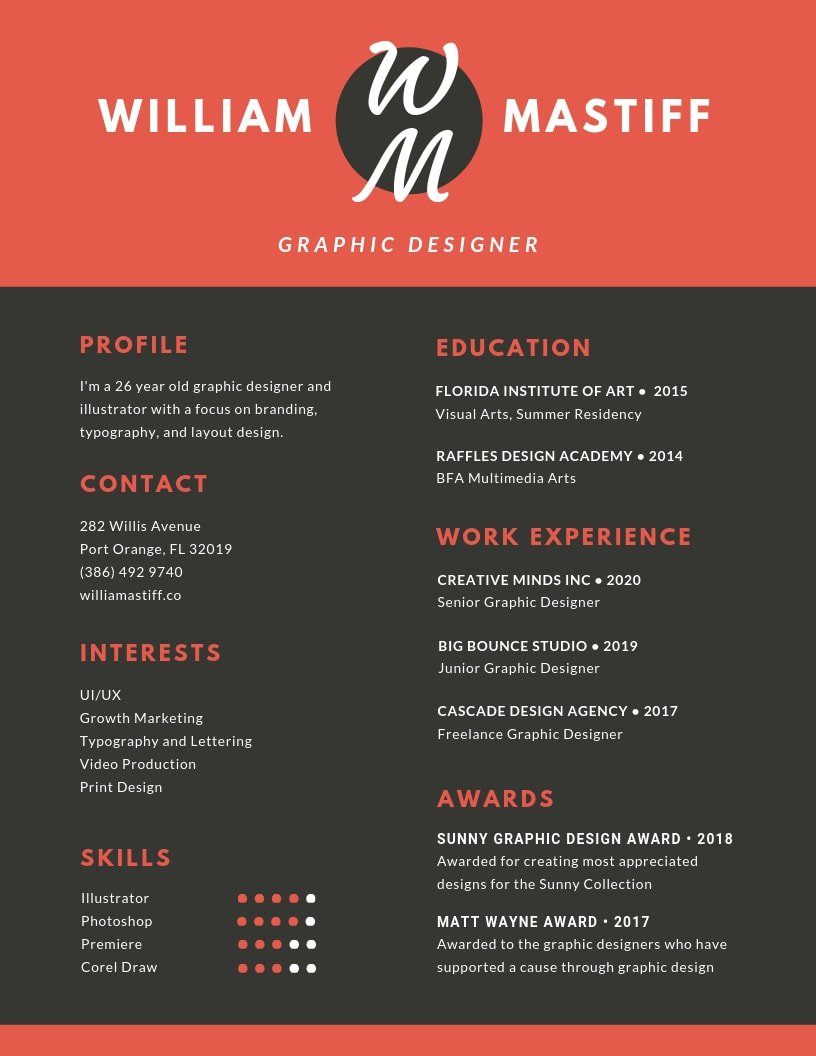 inspiring resume designs to learn from canva free template red grey modern employment Resume Free Cascade Resume Template