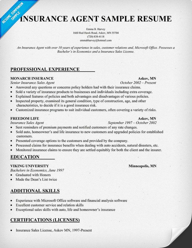 insurance resume writing tips job samples examples sample auto agent resturant interior Resume Auto Insurance Agent Resume