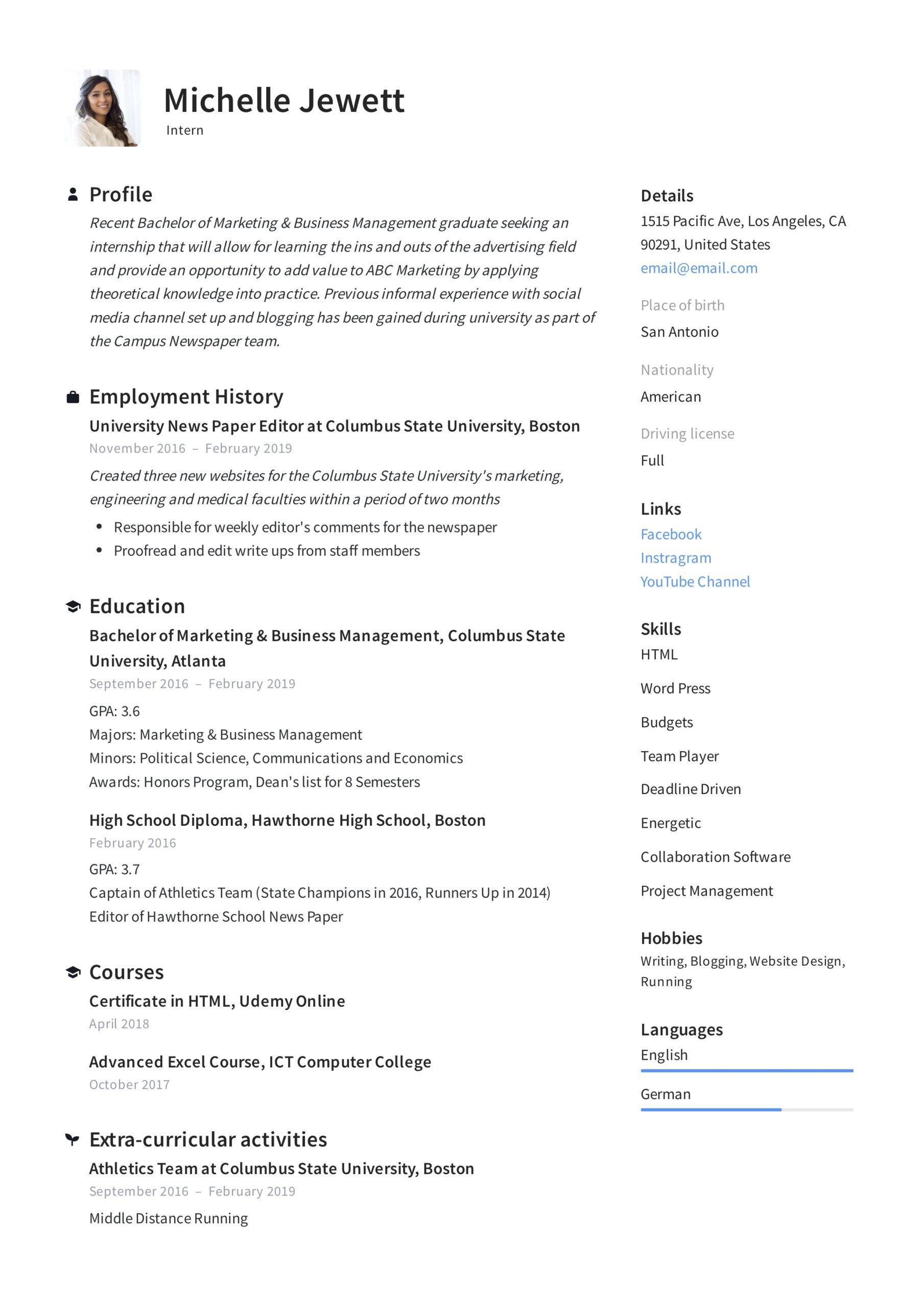 intern resume writing guide samples pdf political science objective examples internship Resume Political Science Resume Objective Examples
