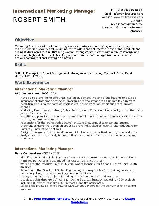 international marketing manager resume samples qwikresume pdf best sans serif font for Resume International Marketing Manager Resume