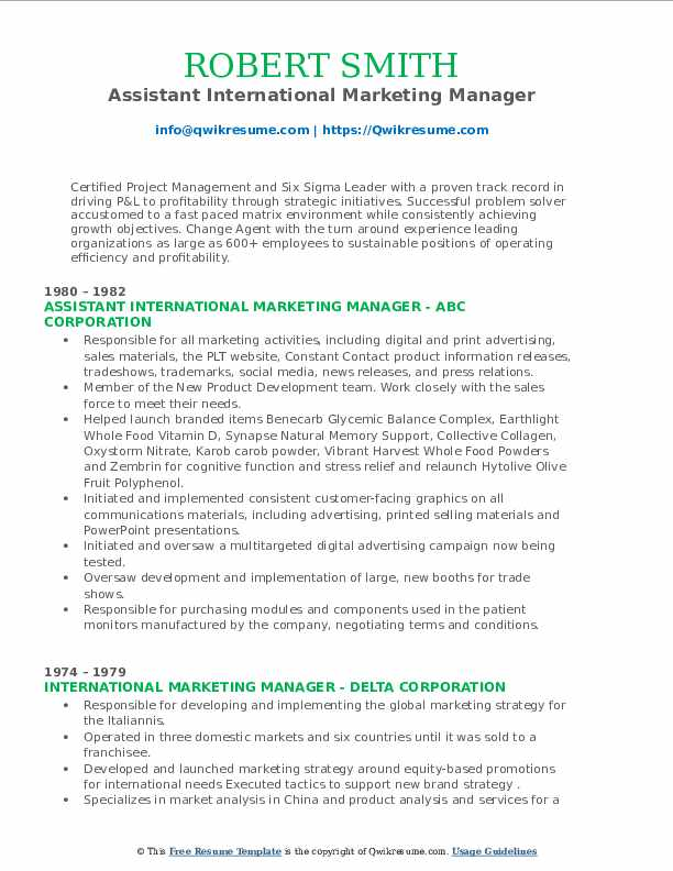 international marketing manager resume samples qwikresume pdf server qualities for cna Resume International Marketing Manager Resume