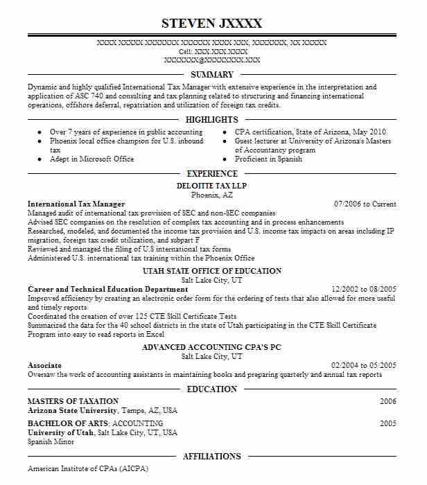 international tax manager resume example the companies inc millbrae infographic marketing Resume International Tax Resume