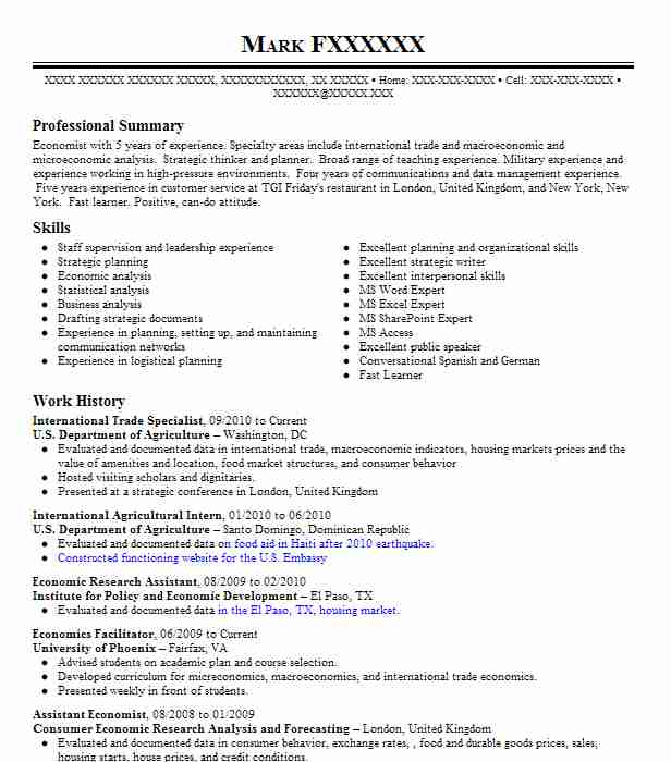 international trade specialist resume example livecareer sample military writing service Resume International Trade Specialist Resume Sample
