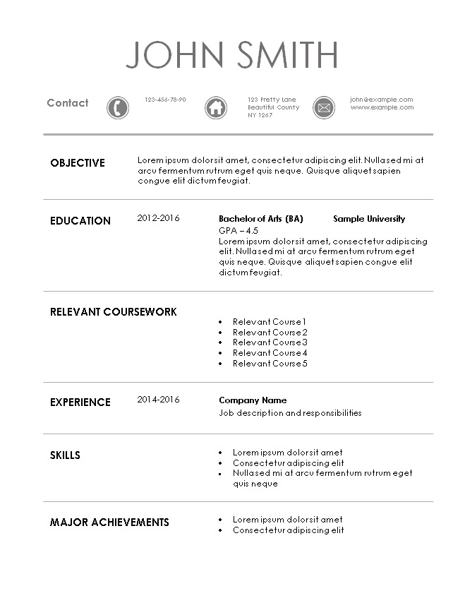 internship resume template application sample cv things you can put on your landscape Resume Internship Application Resume