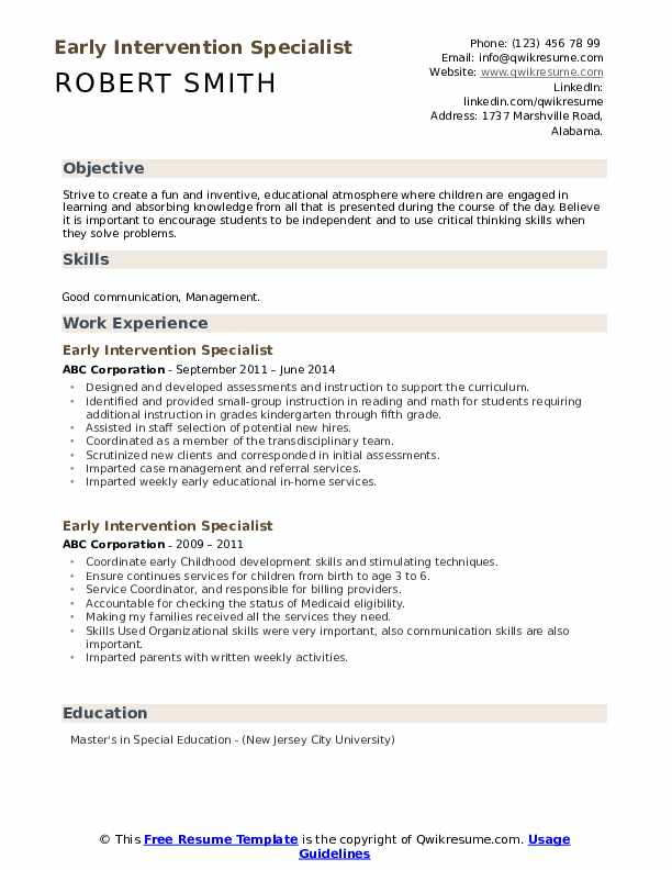 intervention specialist resume samples qwikresume pdf accenture template lying about Resume Early Intervention Specialist Resume