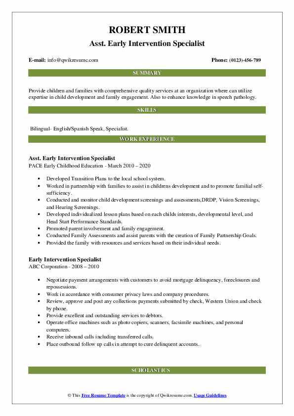 intervention specialist resume samples qwikresume pdf hdfc careers upload accenture Resume Early Intervention Specialist Resume