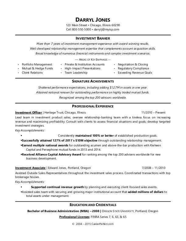 investment banker resume sample monster areas of growth for cash register good Resume Areas Of Growth For Resume