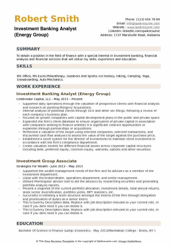 investment banking analyst resume samples qwikresume merger and acquisition pdf format Resume Merger And Acquisition Resume