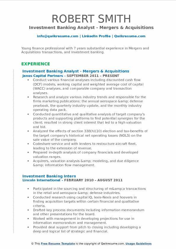 investment banking analyst resume samples qwikresume merger and acquisition pdf winning Resume Merger And Acquisition Resume