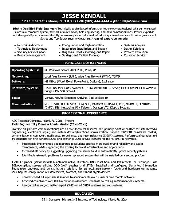 it engineering resume example firewall experience free building websites strong objective Resume Firewall Experience Resume