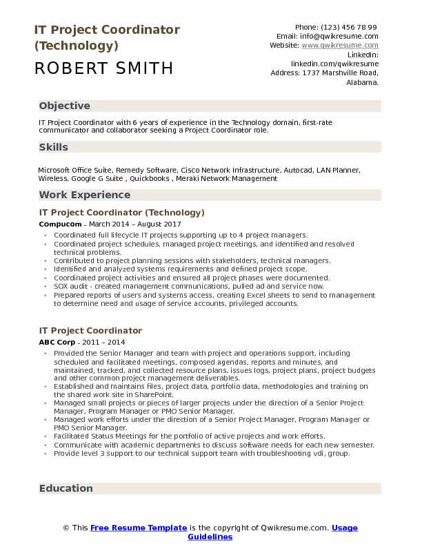 it project coordinator resume samples qwikresume examples for pdf best federal writing Resume Resume Examples For Project Coordinator