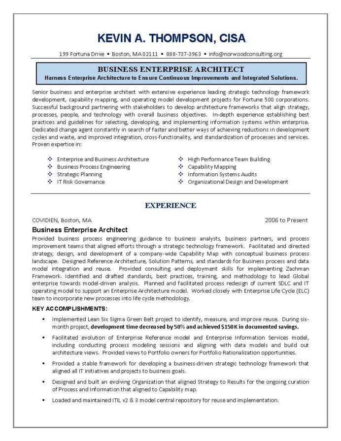 it resume engineering sample business architect enterprise architecture engineer label Resume Enterprise Architecture Resume
