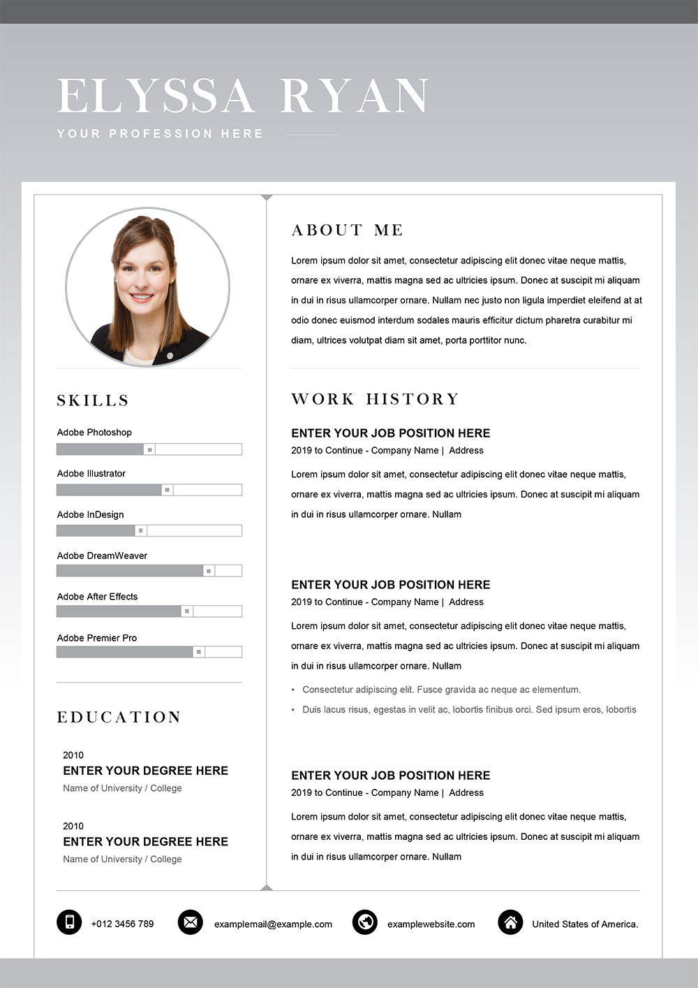 job application resume template in word format slide good qualifications for sample Resume Job Application Resume Template