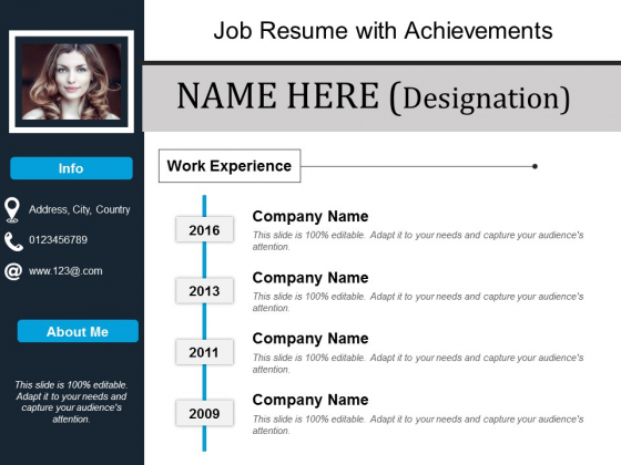 job resume with achievements powerpoint presentation show tips templates using slide Resume Resume Using Powerpoint
