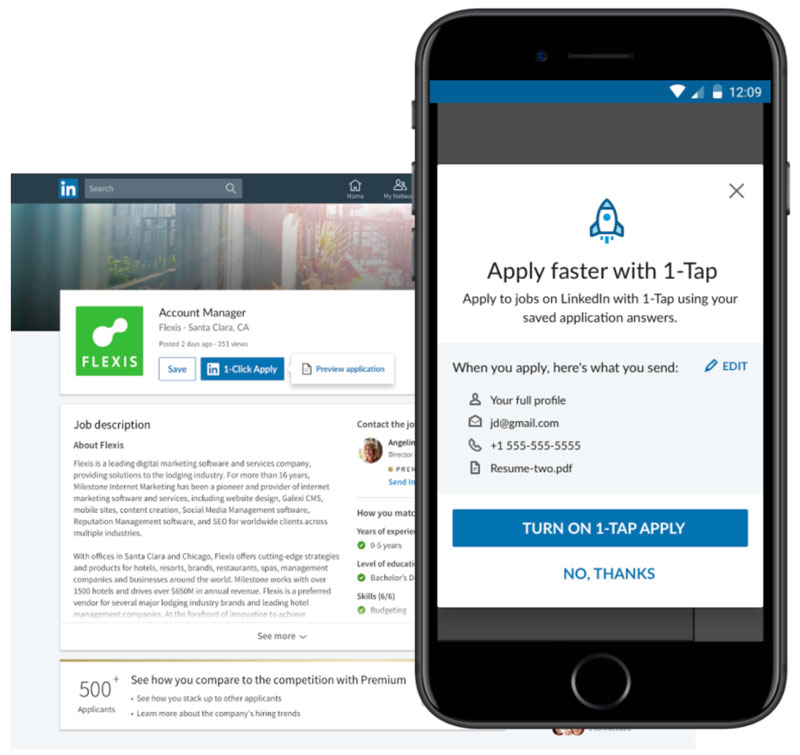job seekers and companies on linkedin can now instantly see if an applicant is match for Resume Applying With Linkedin Vs Resume