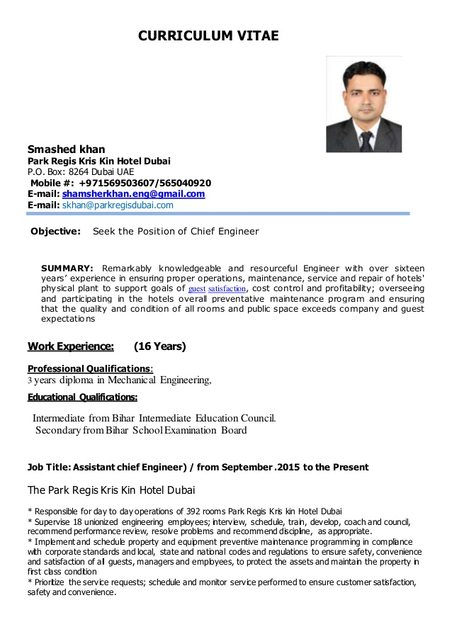 khan for chief engineer marine resume sample skhancv objective samples general employment Resume Marine Chief Engineer Resume Sample