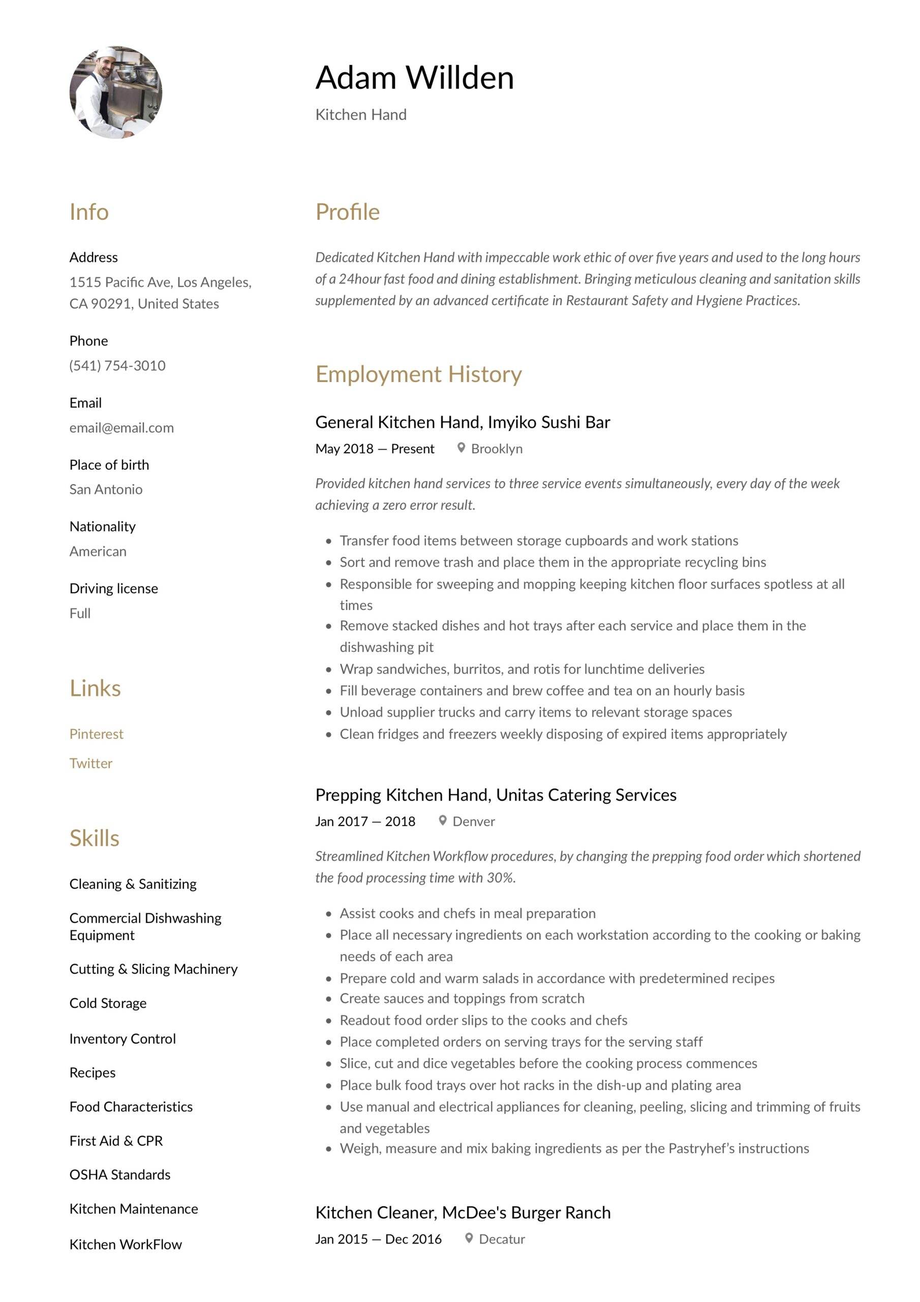 kitchen resume writing guide free templates staff job description for public works rn Resume Kitchen Staff Job Description For Resume