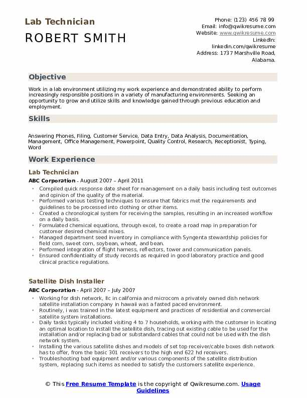 lab technician resume samples qwikresume medical pdf nanny housekeeper camera skills best Resume Medical Lab Technician Resume Download