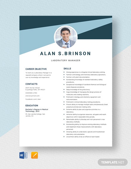laboratory manager resume cv template word apple mac magento advice from hiring managers Resume Laboratory Manager Resume