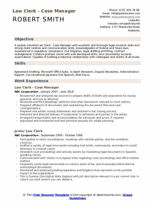 law clerk resume samples qwikresume job description pdf references on things must have Resume Law Clerk Job Description Resume