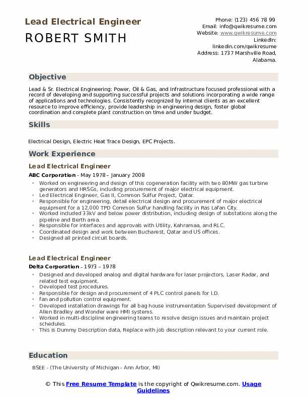 lead electrical engineer resume samples qwikresume substation pdf strong summary for Resume Substation Electrical Engineer Resume