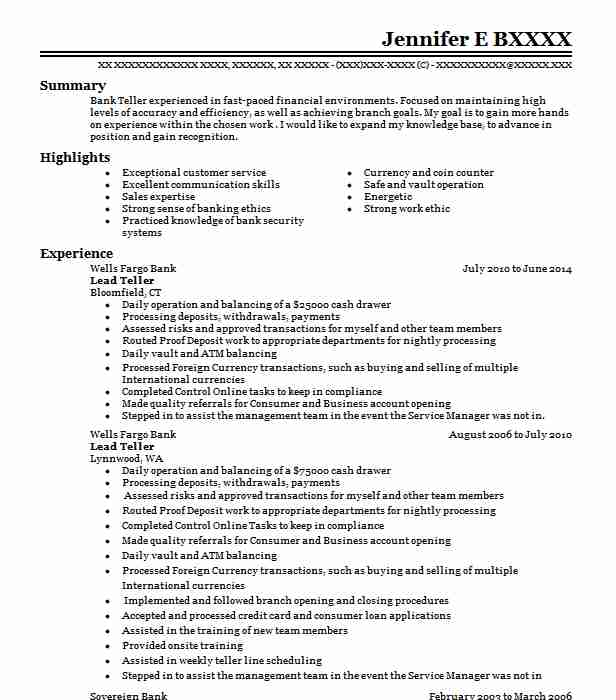 lead resume example resumes livecareer head objective sending email styles for executives Resume Head Teller Resume Objective