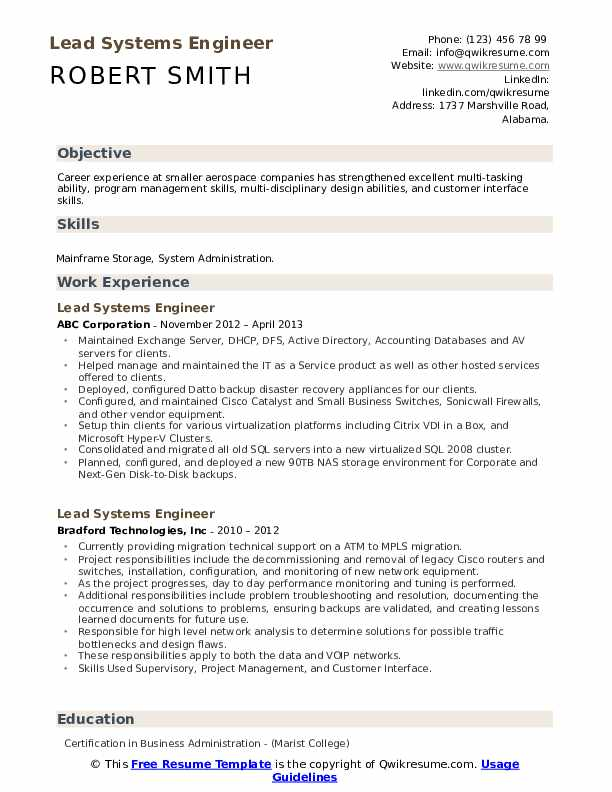 lead systems engineer resume samples qwikresume system format pdf cruise ship monique Resume System Engineer Resume Format