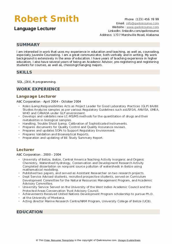 lecturer resume samples qwikresume guest pdf army cpol builder assistant microsoft word Resume Guest Lecturer Resume Samples
