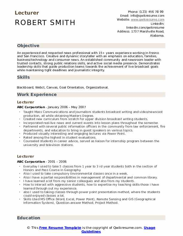 lecturer resume samples qwikresume guest pdf training coordinator example sample solar Resume Guest Lecturer Resume Samples