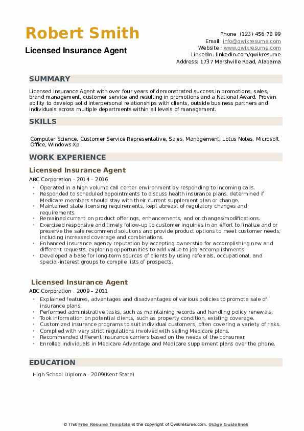 licensed insurance agent resume samples qwikresume auto pdf college soccer coach Resume Auto Insurance Agent Resume