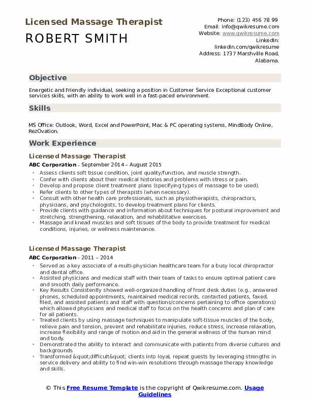 licensed massage therapist resume samples qwikresume examples pdf airline pilot services Resume Massage Therapist Resume Examples