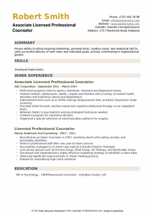 licensed professional counselor resume samples qwikresume pdf combination chronological Resume Licensed Professional Counselor Resume