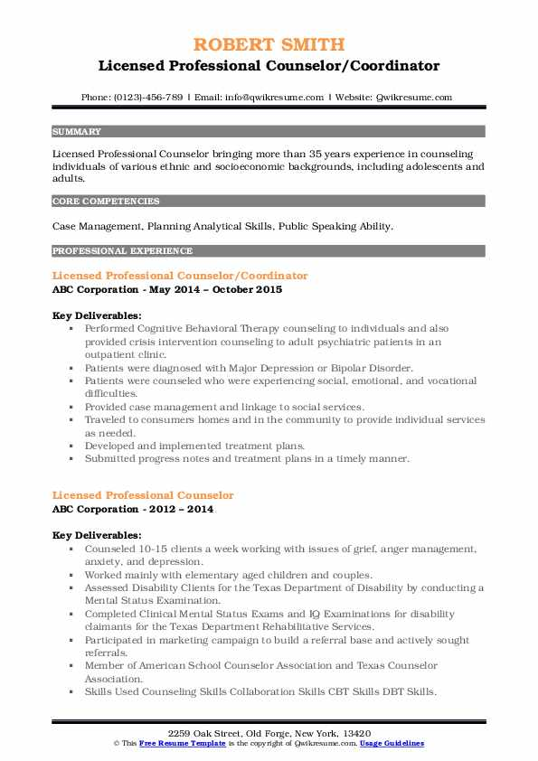 licensed professional counselor resume samples qwikresume pdf computer hardware Resume Licensed Professional Counselor Resume