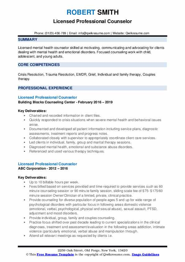 licensed professional counselor resume samples qwikresume pdf operations manager office Resume Licensed Professional Counselor Resume