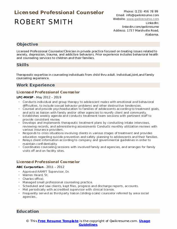 licensed professional counselor resume samples qwikresume pdf tips microsoft access Resume Licensed Professional Counselor Resume