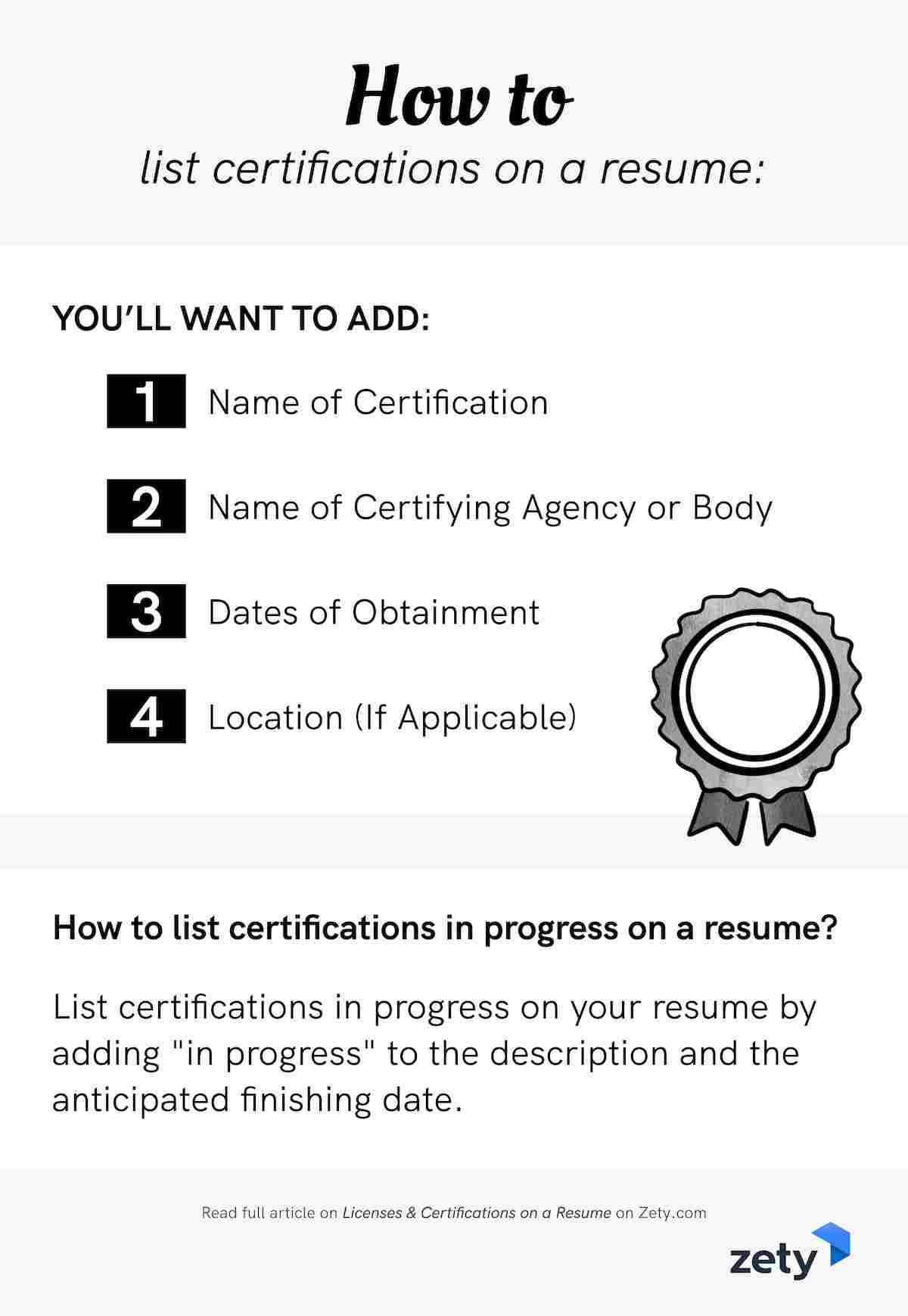 licenses certifications on resume sample easy tips listing classes to banquet server Resume Listing Classes On Resume